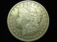 JUST IN SEMI-KEY DATE   EXTRA FINE  1893-O SILVER MORGAN DOLLAR W/ FULL LIBERTY  207P