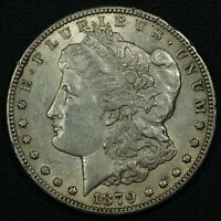 1879 S REVERSE OF 1878 MORGAN SILVER DOLLAR - RIM DAMAGE