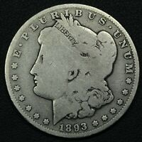 1893 O MORGAN SILVER DOLLAR