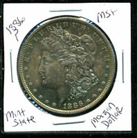 1886 P BU MORGAN DOLLAR UNCIRCULATED SILVER MINT STATE COMBINE SHIP$1 COIN 3323
