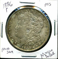 1886 P BU MORGAN DOLLAR UNCIRCULATED SILVER MINT STATE COMBINE SHIP$1 COIN407