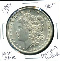 1884 P BU MORGAN DOLLAR UNCIRCULATED SILVER MINT STATE COMBINE SHIP$1 COIN 1058