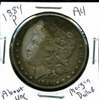 1884 P AU MORGAN DOLLAR 90 SILVER COIN ABOUT UNCIRCULATED COMBINE SHIP$1 1667