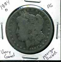 1884 O VG MORGAN DOLLAR 90 SILVER  GOOD U.S.A COMBINE SHIP $1 COIN 1188