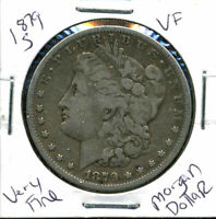 1879 S VF MORGAN DOLLAR 90 SILVER  FINE U.S.A COMBINE SHIP $1 COIN 4383