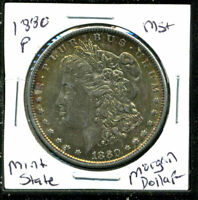 1880 P BU MORGAN DOLLAR UNCIRCULATED SILVER MINT STATE COMBINE SHIP$1 COIN 3281