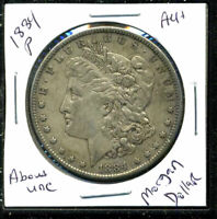 1884 P AU MORGAN DOLLAR 90 SILVER ABOUT UNCIRCULATED COMBINE SHIP $1 COIN 4152