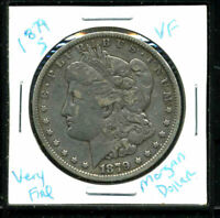 1879 S VF MORGAN DOLLAR 90 SILVER  FINE  U.S.A COMBINE SHIP$1 COIN 3509