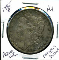 1885 P AU MORGAN DOLLAR 90 SILVER COIN ABOUT UNCIRCULATED COMBINE SHIP$1 239