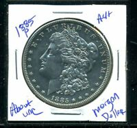 1885 P AU MORGAN DOLLAR 90 SILVER COIN ABOUT UNCIRCULATED COMBINE SHIP$1 5037
