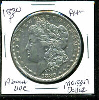 1880 P AU MORGAN DOLLAR 90 SILVER ABOUT UNCIRCULATED COMBINE SHIP $1 COIN 3600