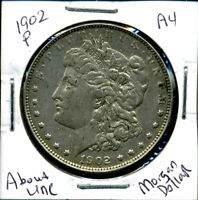1902 P AU MORGAN DOLLAR 90 SILVER COIN ABOUT UNCIRCULATED COMBINE SHIP$1 567