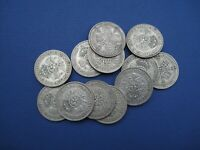 12 X BRITISH SILVER FLORINS PRE 1947 DATES 1920S 1930S 1940S