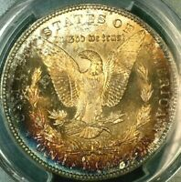 AWESOME 1894-S MORGAN DOLLAR - PCGS CERTIFIED - MINT STATE 65 - BEAUTIFUL REVERSE TONING