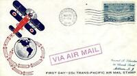 TRANS PACIFIC AIR MAIL CHINA CLIPPER ISSUE C 20 FDC WASHINTO