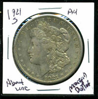 1921 S AU MORGAN DOLLAR 90 SILVER ABOUT UNCIRCULATED COMBINE SHIP$1 COIN 4660