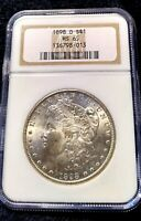 CHOICE MINT STATE 65 1898-O MORGAN SILVER DOLLAR NGC MINT STATE 65 OH  EXQUISITE FROSTY GEM