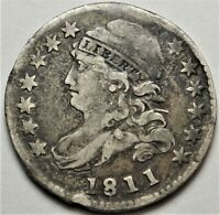 1811/09 CAPPED BUST DIME  FINE VF JR-1 OVERDATE 10C VARIETY
