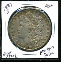 1887 S AU MORGAN DOLLAR 90 SILVER COIN ABOUT UNCIRCULATED COMBINE SHIP $1 3229