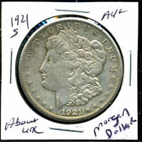 1921 S AU MORGAN DOLLAR 90 SILVER ABOUT UNCIRCULATED COMBINE SHIP$1 COIN 4909