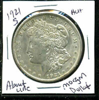 1921 S AU MORGAN DOLLAR 90 SILVER COIN ABOUT UNCIRCULATED COMBINE SHIP$1 4521