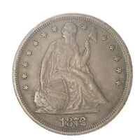 1872-P LIBERTY SEATED SILVER DOLLAR  EXTRA FINE  HARD TO FIND,   COIN