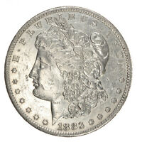 1883-S MORGAN SILVER DOLLAR AU ABOUT UNCIRCULATED JO/601