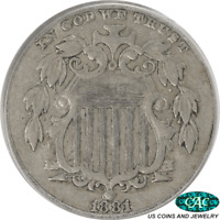 1881 SHIELD NICKEL PCGS AND CAC EXTRA FINE 40