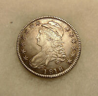 1818 CAPPED BUST 50C - OVERTON-112 - SHARP LOOKING COIN - SHIPS FREE