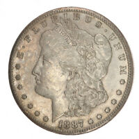 1887-S MORGAN SILVER DOLLAR AU ABOUT UNCIRCULATED JO/616