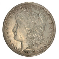 1887-S MORGAN SILVER DOLLAR AU ABOUT UNCIRCULATED JO/617