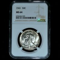 1941-P WALKING LIBERTY HALF DOLLAR  NGC MINT STATE 64  50C UNCIRCULATED 020 TRUSTED