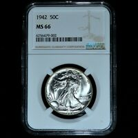 1942-P WALKING LIBERTY HALF DOLLAR  NGC MINT STATE 66  50C UNCIRCULATED 002 TRUSTED