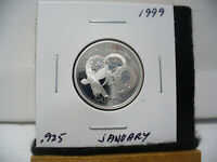 1999  CANADA 25 CENT  QUARTER  DOLLAR  SILVER PROOF   .925   JANUARY