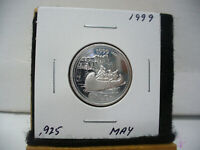 1999  CANADA 25 CENT  QUARTER  DOLLAR  SILVER PROOF   .925  MAY
