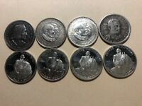 COMMERATIVE 90  SILVER MIXED HALF DOLLAR COINS