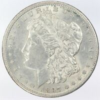 1897-S MORGAN SILVER DOLLAR AU ABOUT UNCIRCULATED WS480