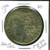 1900 S AU MORGAN DOLLAR 90 SILVER COIN ABOUT UNCIRCULATED COMBINE SHIP$1 3541