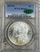 1879-O MORGAN SILVER DOLLAR, PCGS MINT STATE 65 CAC