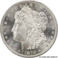 1879-S MORGAN SILVER DOLLAR PCGS MINT STATE 66 ROLLING JET WHITE LUSTER