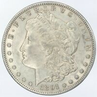 1891-S MORGAN SILVER DOLLAR AU ABOUT UNCIRCULATED JO/1056
