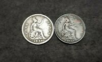 1827 & 1838 BRITAIN SILVER FOURPENCE