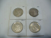 LOT OF 4  USA ONE  1 $ DOLLAR   SILVER COINS   PIECES   90      LOT B