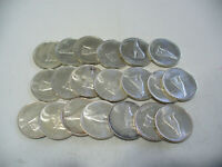 LOT OF 20 1967  CANADA HALF DOLLAR  SILVER COINS  50 CENT PIECES