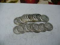 LOT OF 20 1964  CANADA  HALF  DOLLAR  SILVER  COINS  64 LOT B   50 CENT  PIECE