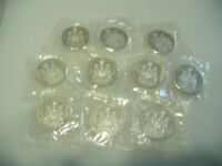LOT OF  10 1963  CANADA  SILVER 1/2 $  FIFTY  50 CENT PIECE   COINS  LOT A