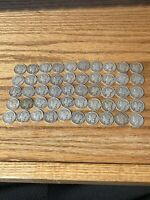 1 ROLL OF 50 90  SILVER MERCURY DIMES. DATES MIXED  GET WHAT