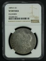 1895 S MORGAN SILVER DOLLAR NGC VF DETAILS - CLEANED