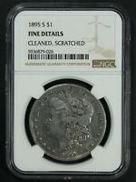 1895 S MORGAN SILVER DOLLAR NGC F DETAILS - CLEANED & SCRATCHED