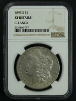 1895 S MORGAN SILVER DOLLAR NGC EXTRA FINE  DETAILS - CLEANED